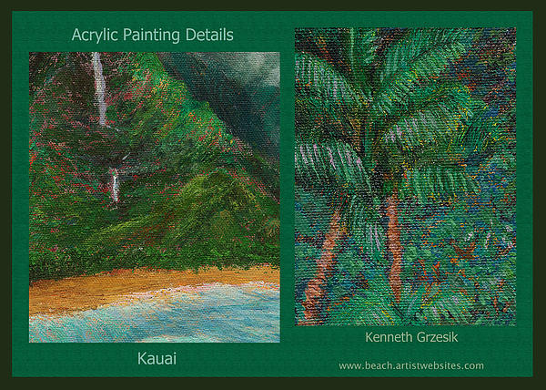 Kauai Painting Poster 3 Print by Kenneth Grzesik