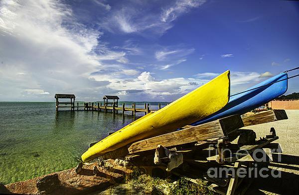 Kayaks Print by Bruce Bain