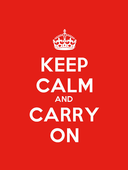 Celestial Images - Keep Calm And Carry On Poster