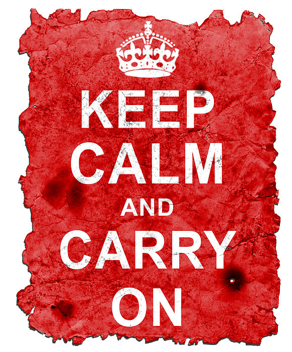 Keep Calm Poster Torn Print by Nik Helbig
