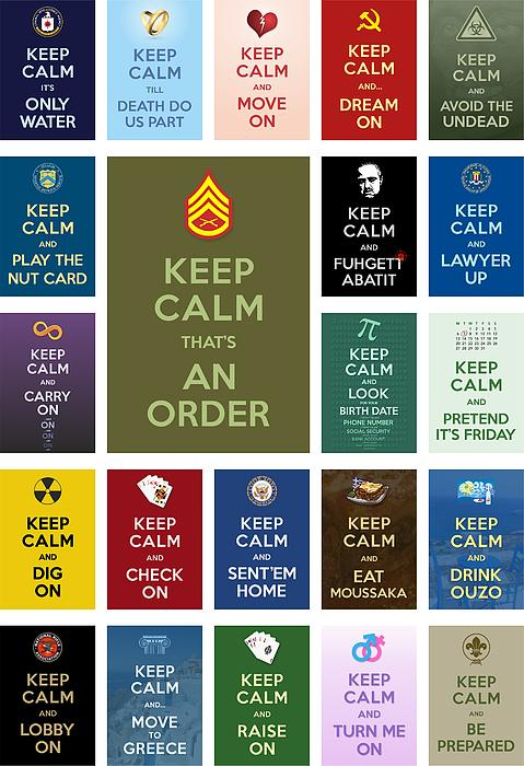 Keep Calm ...with A Bite Collage Print by Helena Kay