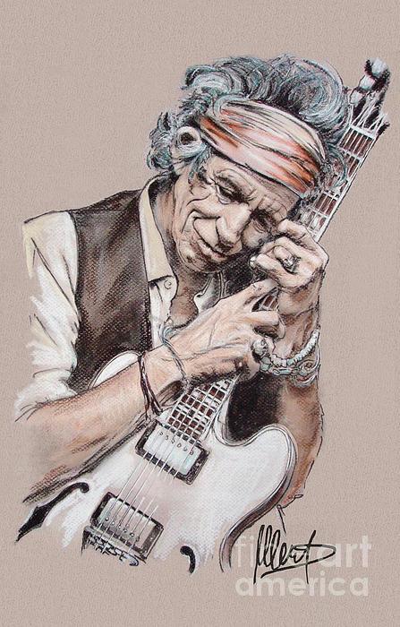 Keith Richards Print by Melanie D