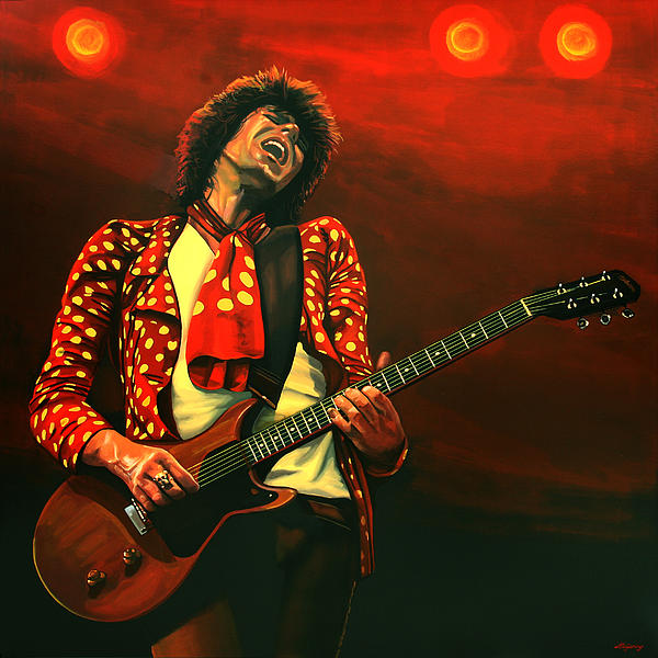 Keith Richards Print by Paul Meijering