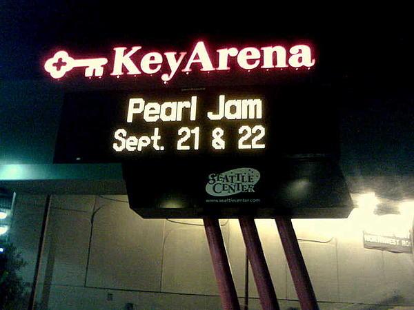 Key Arena Pearl Jam Print by Linda De La Rosa