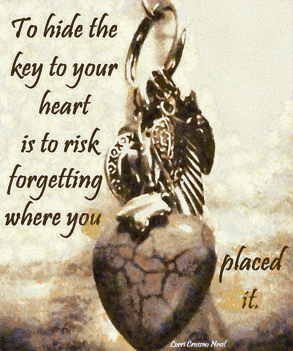 Key To Your Heart Print by Lorri Crossno