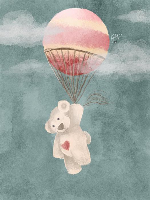 Kie Kie's Flight Print by Jason Longstreet