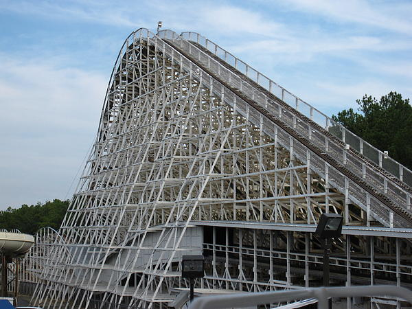 Kings Dominion - Rebel Yell - 12121 Print by DC Photographer