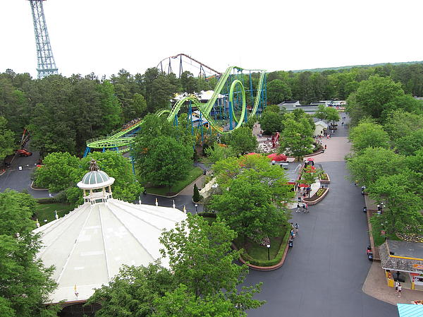 Kings Dominion - Shockwave - 01133 Print by DC Photographer