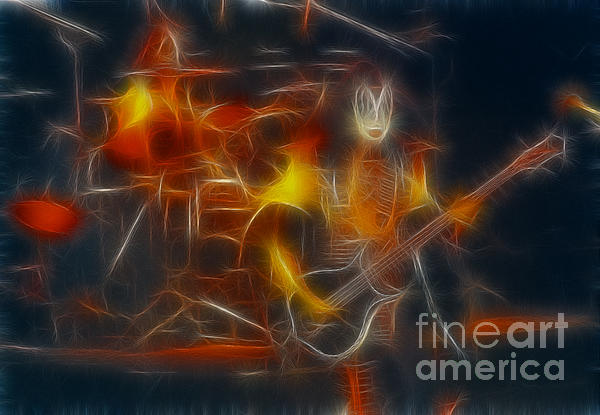 Kiss-gene-b36a-fractal Print by Gary Gingrich Galleries