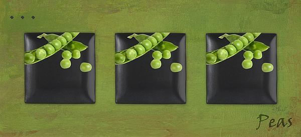 Kitchen Art - Peas - 02t01b Print by Aimelle