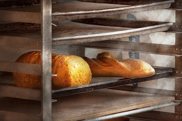 Kitchen - Food - Bread - Freshly Baked Bread  Print by Mike Savad