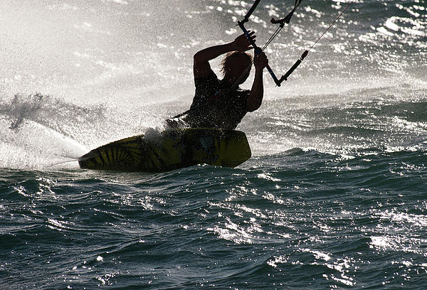 Kite Surfer 02 Print by Rick Piper Photography