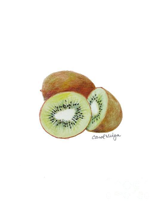 Kiwi Print by Carol Veiga