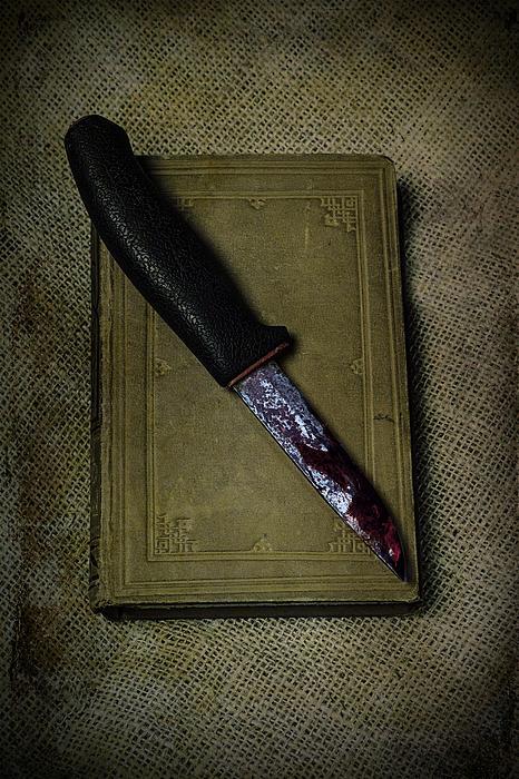 Knife With Book Print by Joana Kruse