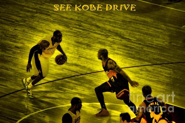 Kobe Lakers Print by RJ Aguilar
