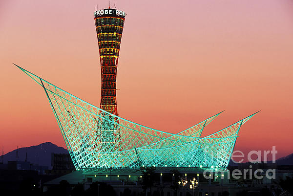 Kobe Port Tower Japan Print by Kevin Miller
