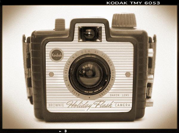 Kodak Brownie Holiday Flash Print by Mike McGlothlen