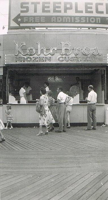 Kohr Bros Frozen Custard Atlantic City Nj Print by Joann Renner