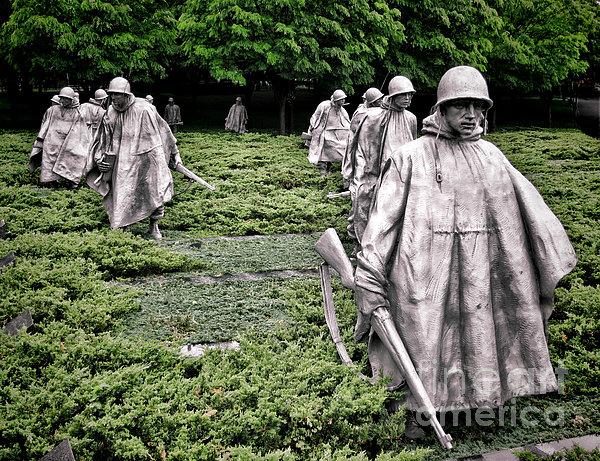 Korean War Veterans Memorial Print by Olivier Le Queinec