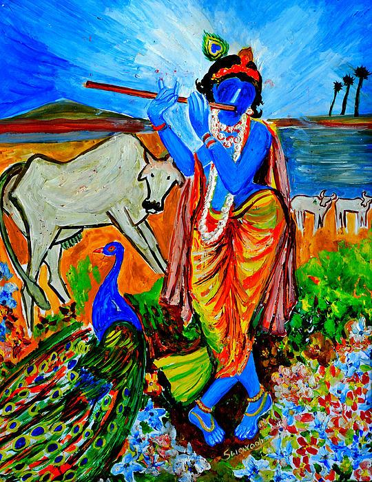 Anand Swaroop Manchiraju - Krishna with cow