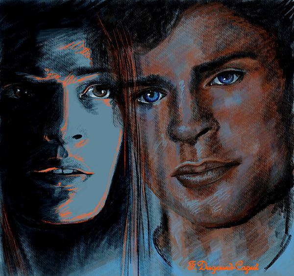 Kristin And Tom Print by Francoise Dugourd-Caput
