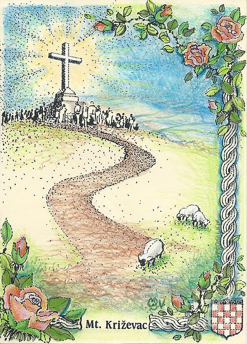 Krizevac - Cross Mountain Print by Christina Verdgeline