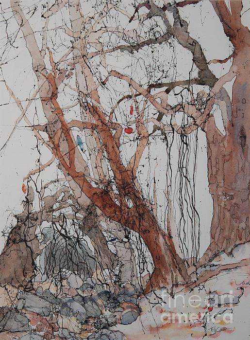 Kudzu Winter Print by Elizabeth Carr