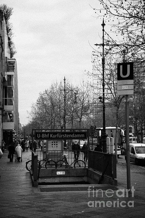 Kufurstendamm U-bahn Station Entrance Berlin Germany Print by Joe Fox