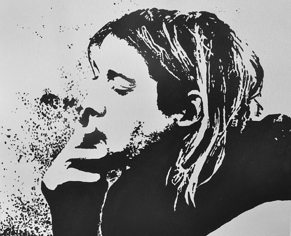 Kurt Cobain Print by Paula Sharlea