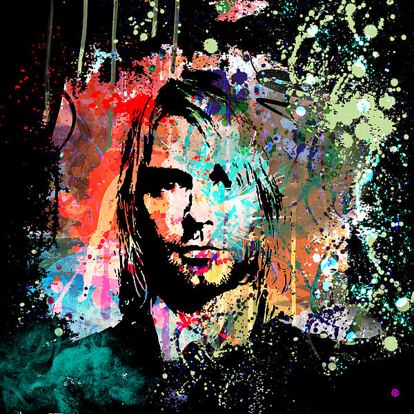 Kurt Cobain Portrait Print by Gary Grayson
