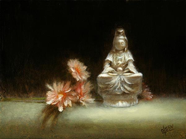 Kwan Yin Print by Christy Olsen