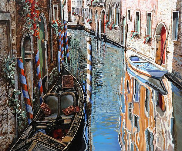 La Barca Al Sole Print by Guido Borelli