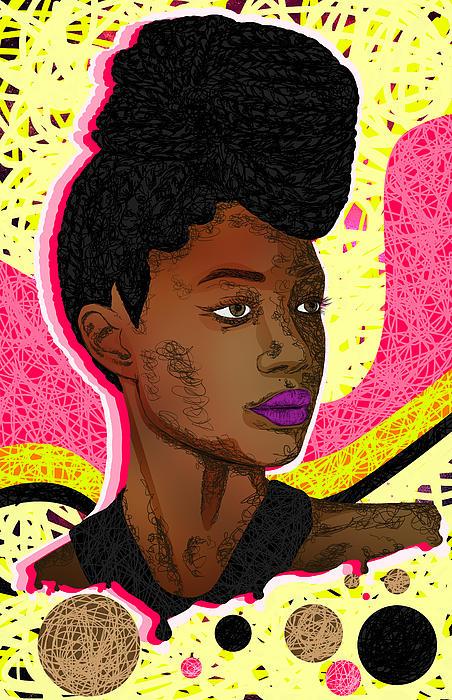 La Belle Tia Print by Kenal Louis