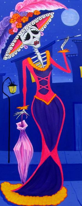 La Catrina Print by Evangelina Portillo