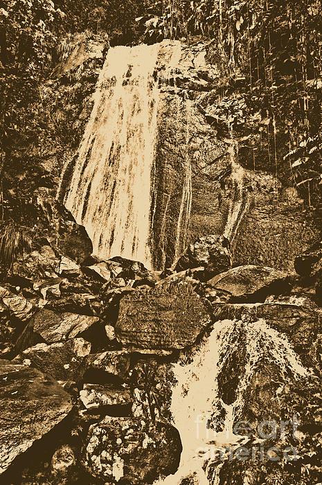 La Coca Falls El Yunque National Rainforest Puerto Rico Prints Rustic Print by Shawn O'Brien