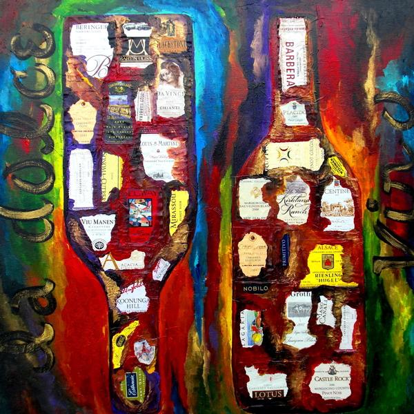 La Dolce Vino Print by Patti Schermerhorn