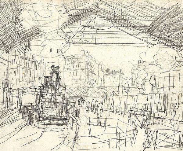La Gare Saint Lazare Print by Claude Monet