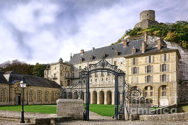 La Roche Guyon Castle Print by Olivier Le Queinec