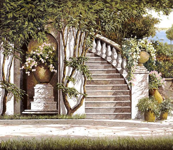 La Scalinata Print by Guido Borelli