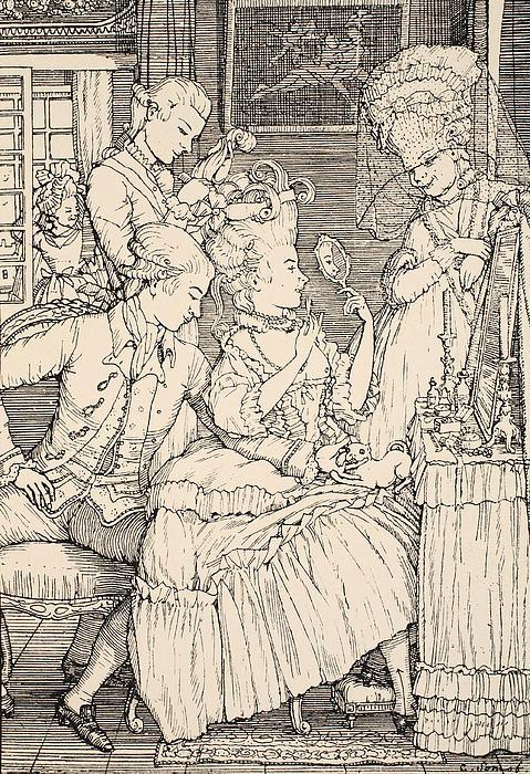 La Toilette Print by Konstantin Andreevic Somov