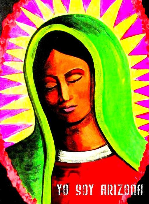 La Virgen Arizona Print by Michelle Dallocchio