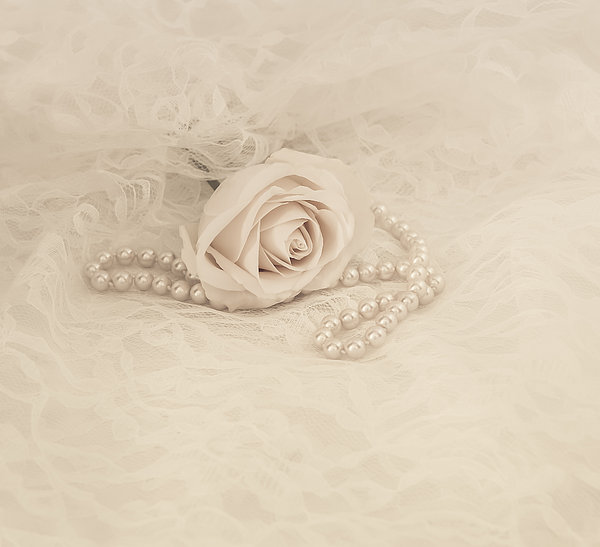 Lace And Promises Print by Kim Hojnacki