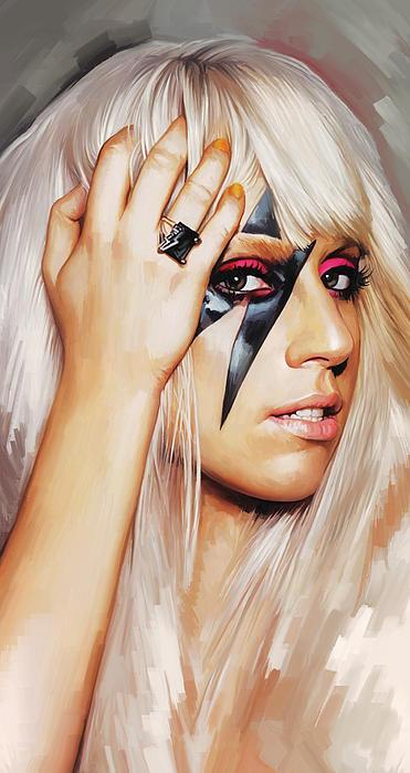 Lady Gaga Artwork 1 Print by Sheraz A