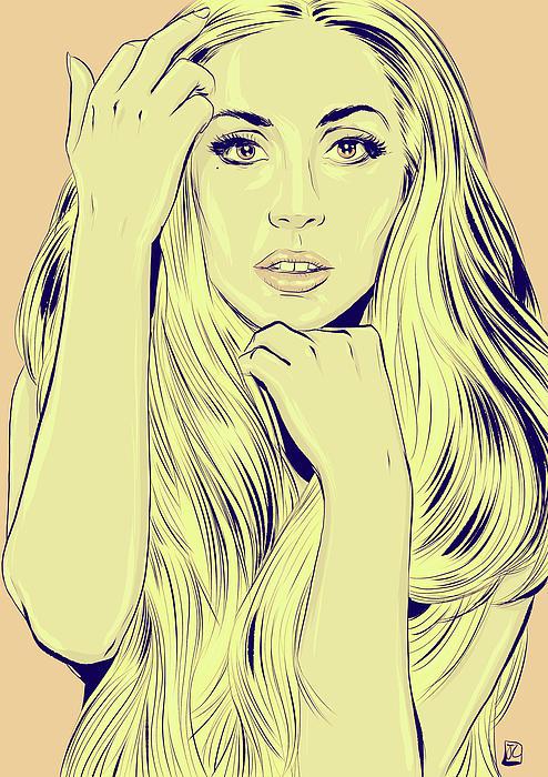 Lady Gaga Print by Giuseppe Cristiano