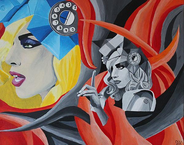 Lady Gaga Print by Jennifer Hayes