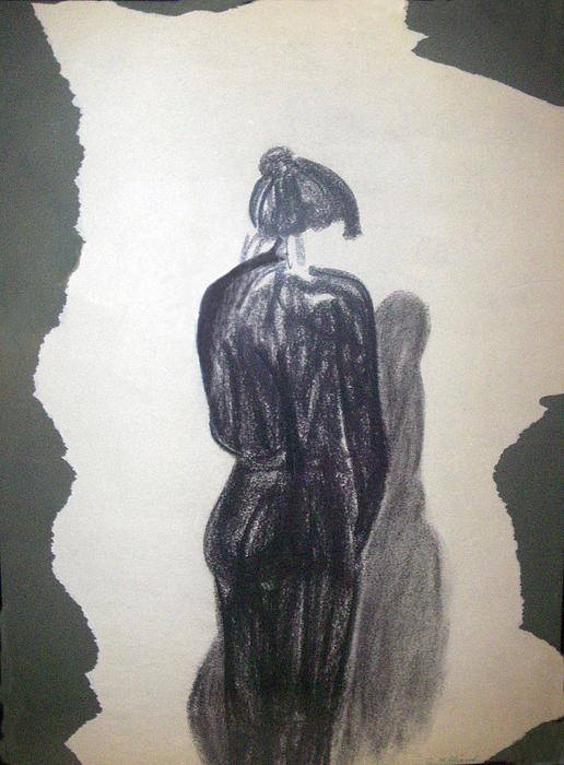 Lady In Black Print by Cynthia Hilliard