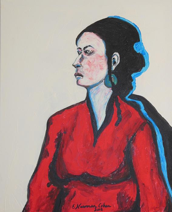 Esther Newman-Cohen - Lady in Red
