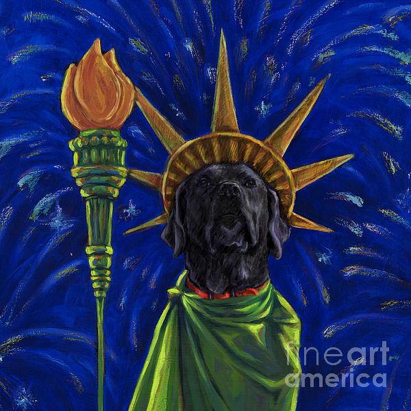Lady Liberty - Black Print by Kathleen Harte Gilsenan