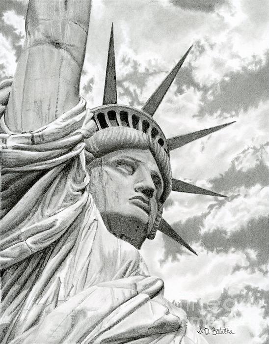Lady Liberty Print by Sarah Batalka