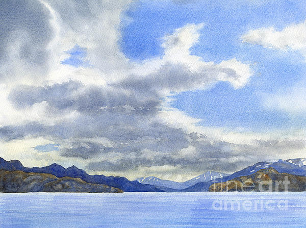Lago Grey Patagonia Print by Sharon Freeman